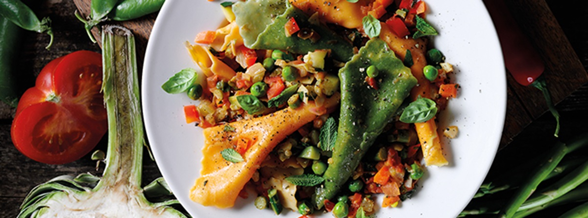 recipe image Vegetarian Multi-Coloured and Multi-Veggie Pasta