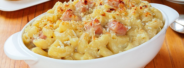 recipe image Macaroni Cheese with Prosciutto and Leeks