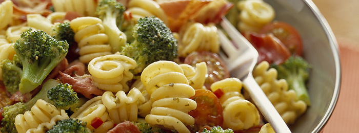 recipe image Pasta with broccoli, pesto and chilli