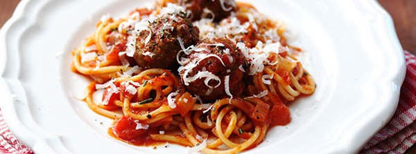 recipe image One-pan Spaghetti & Meatballs