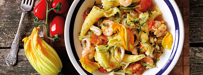 recipe image Bertollini Pasta With Seafood and Courgettes