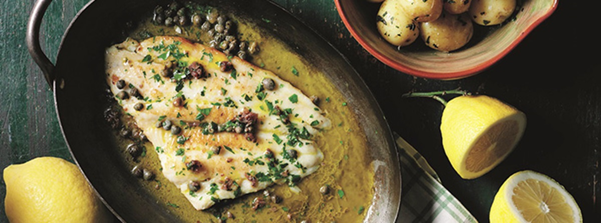 recipe image Italian Plaice Fillets Recipe with Baby Potatoes
