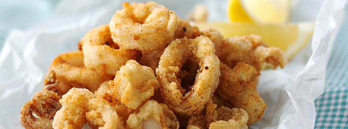 recipe image Crispy Squid with Easy Garlic & Paprika Mayo