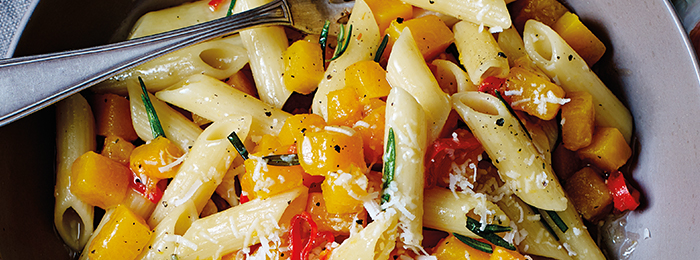 recipe image Penne with Butternut Squash, Rosemary and Chilli