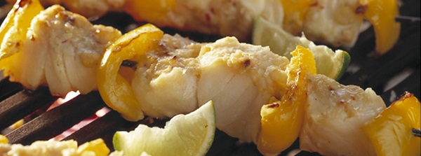 recipe image Skewered fish and lime kebabs